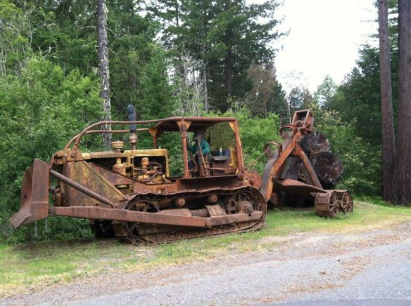 logger, dozer, bulldozer chainsaw carving, lumberjack, yard art, photo, photography