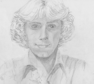 pencil, drawing, self portrait, Forester Artist