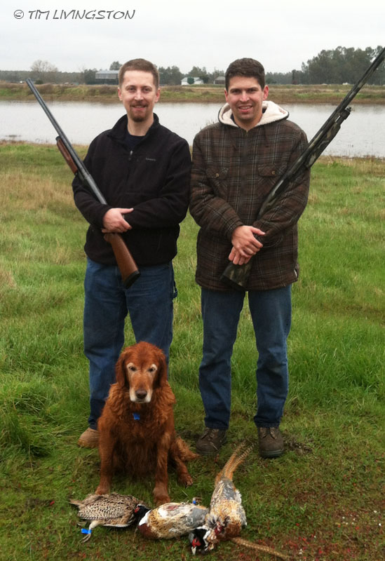 family, sons, golden retriever, hunting, pheasant