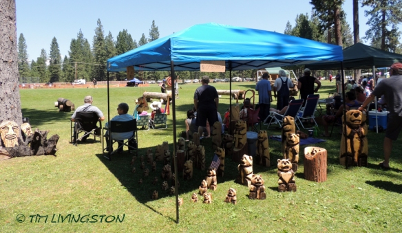 Lumberjack Fiesta, logging sports, timber sports, lumberjack sport, picnic, Americana, McCloud, watermelon eating contest, horseshoes, softball, Red Tail Publishing, chainsaw art