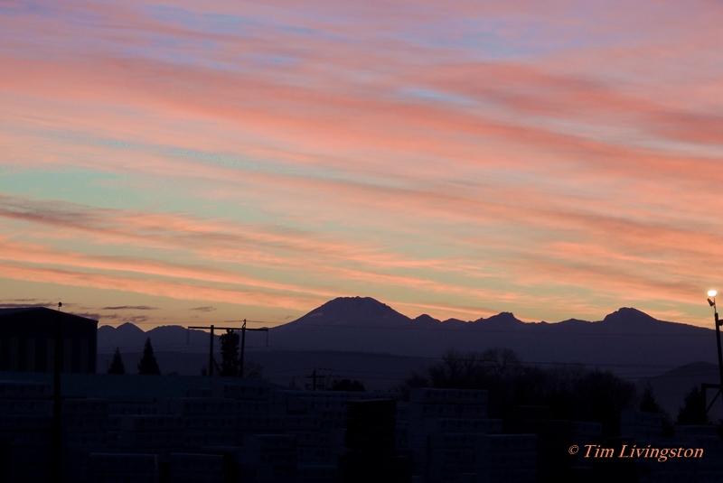 Lassen Peak, Mt Lassen, sawmill, sunrise