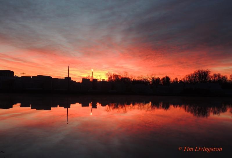 sunrise, sawmill