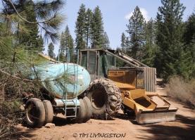 skidder, fuel trailer, logger, logging