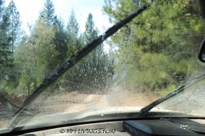 windshield wiper, dust, forest road, logging road