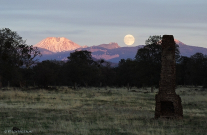 Mt Lassen, Lassen Peak, moon