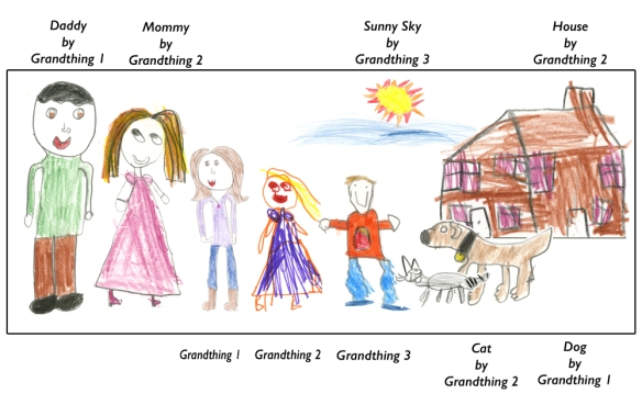 Family Portrait by our grandkids.