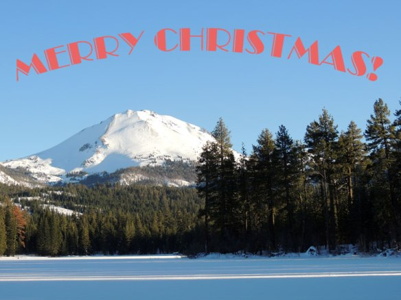 Christmas, Merry Christmas, Lassen Peak, Lassen