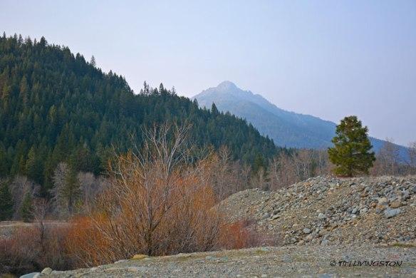 Billys Peak, Trinity River, smoke, wildfire, Thomas Fire,